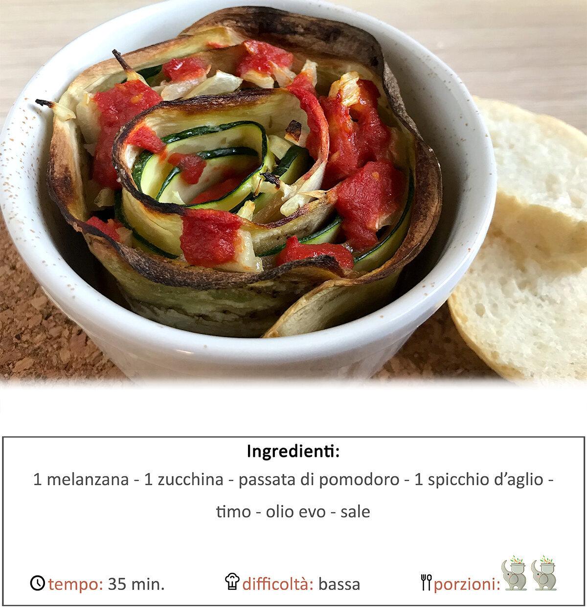 Rosa di verdure al forno