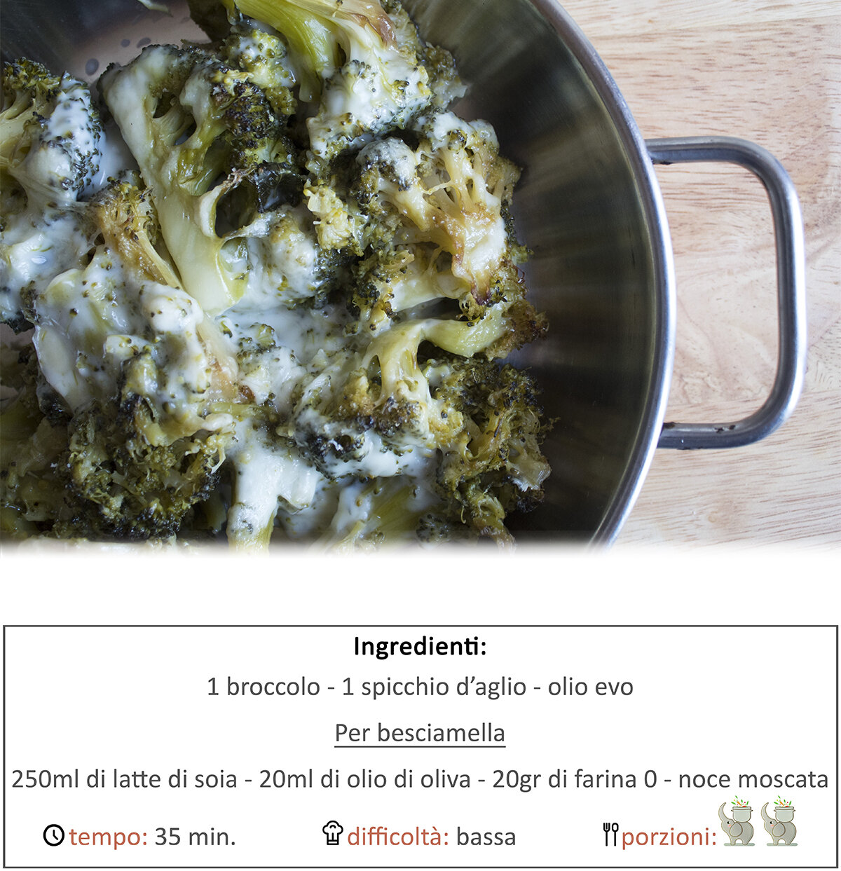 Broccoli al forno con besciamella veg