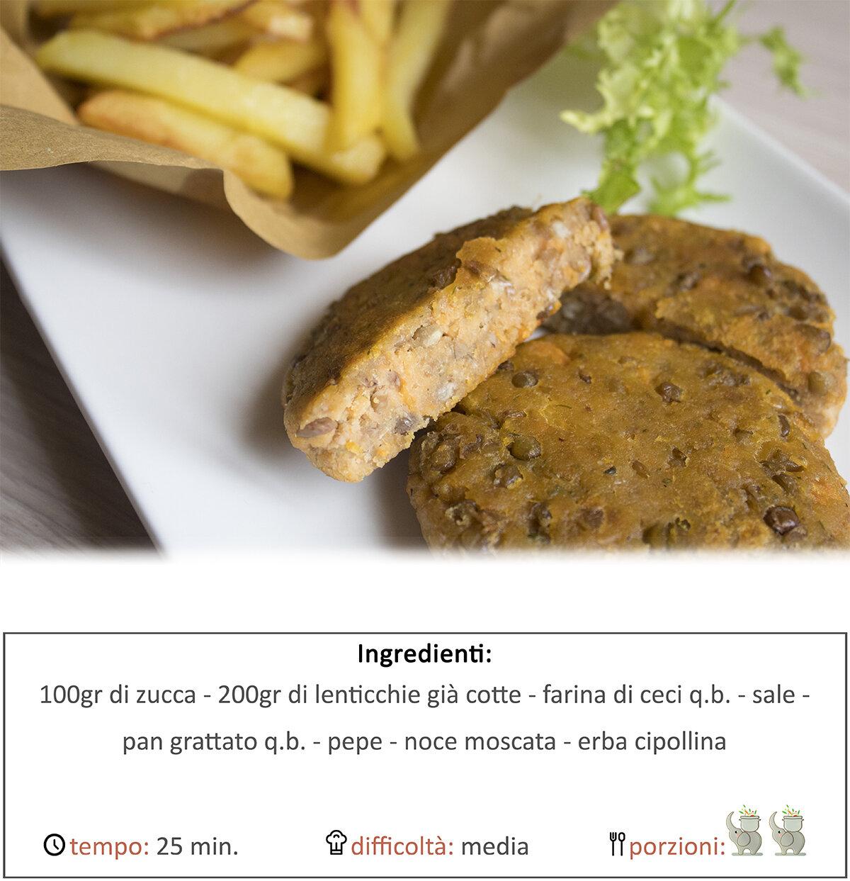 Burger di lenticchie e zucca