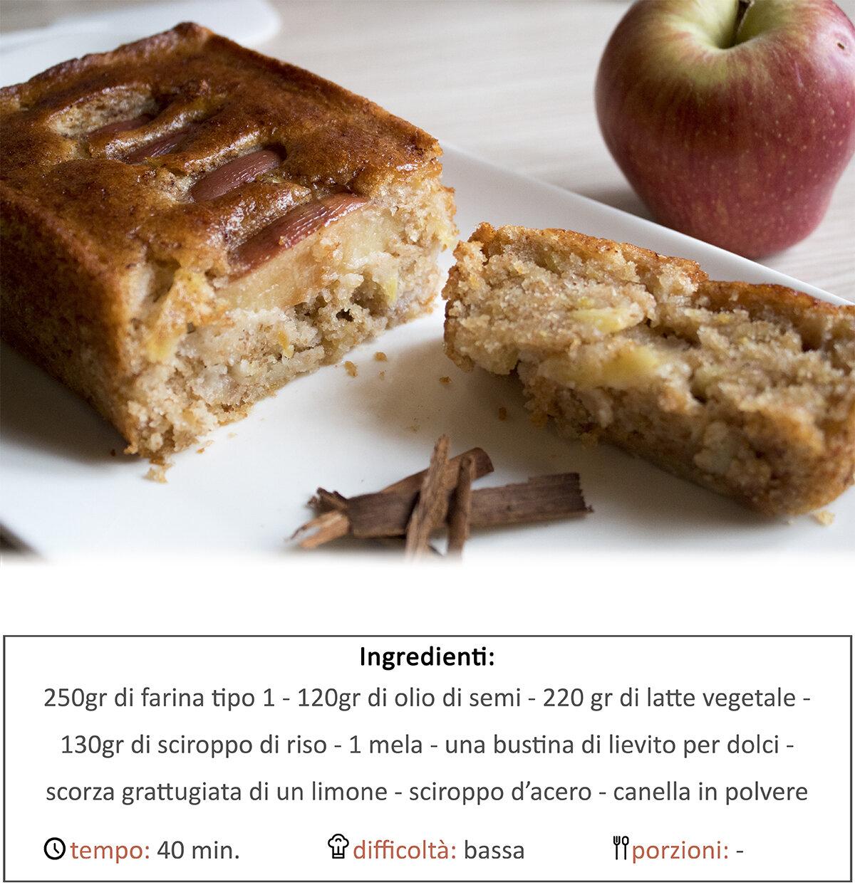 plumcake di mele