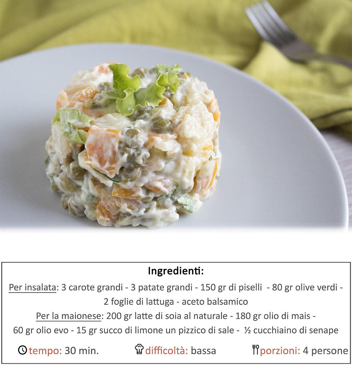 Insalata russa veg (ricetta segreta)