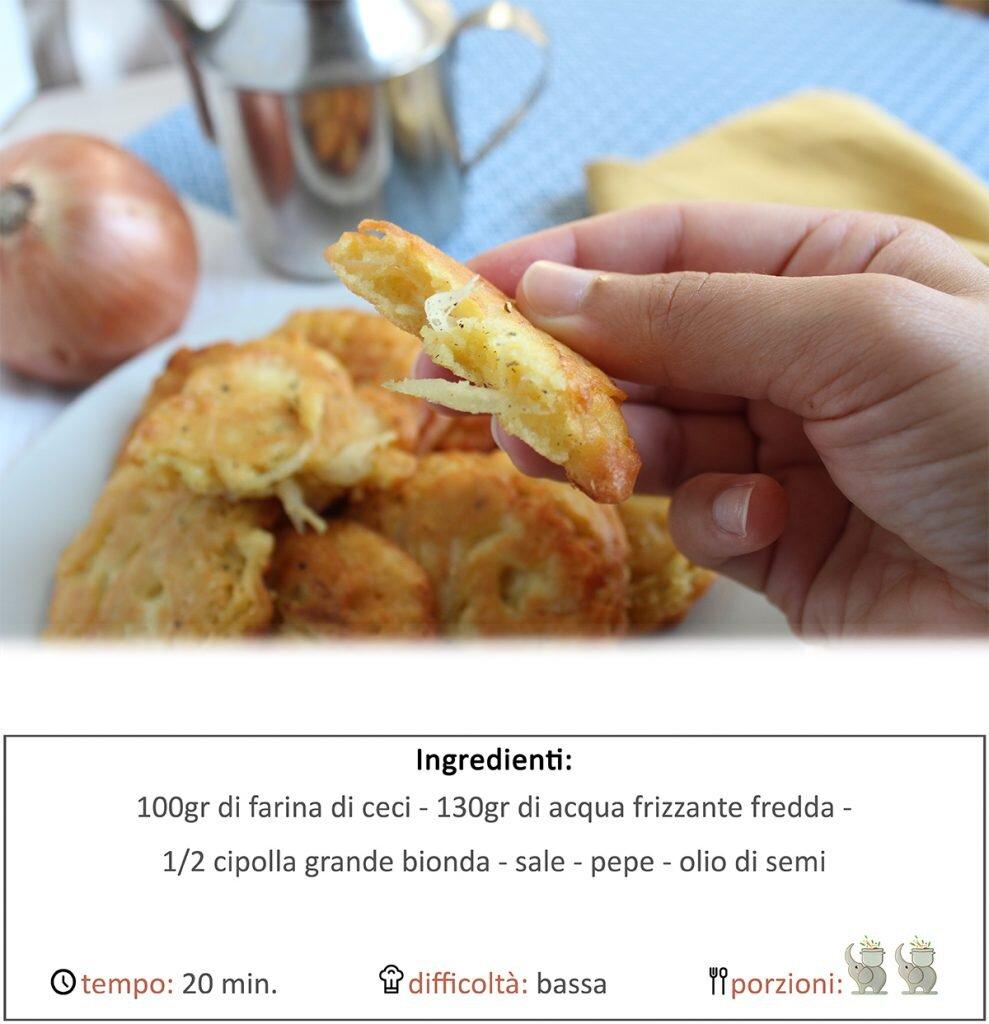 Frittelle di ceci e cipolle