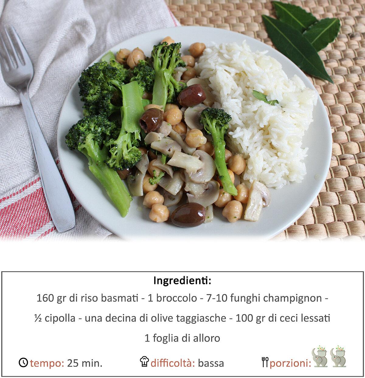 Verdure autunnali con riso all'alloro