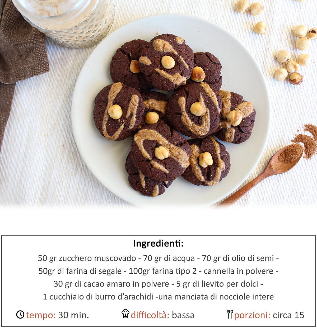 Biscotti al cioccolato e burro di arachidi