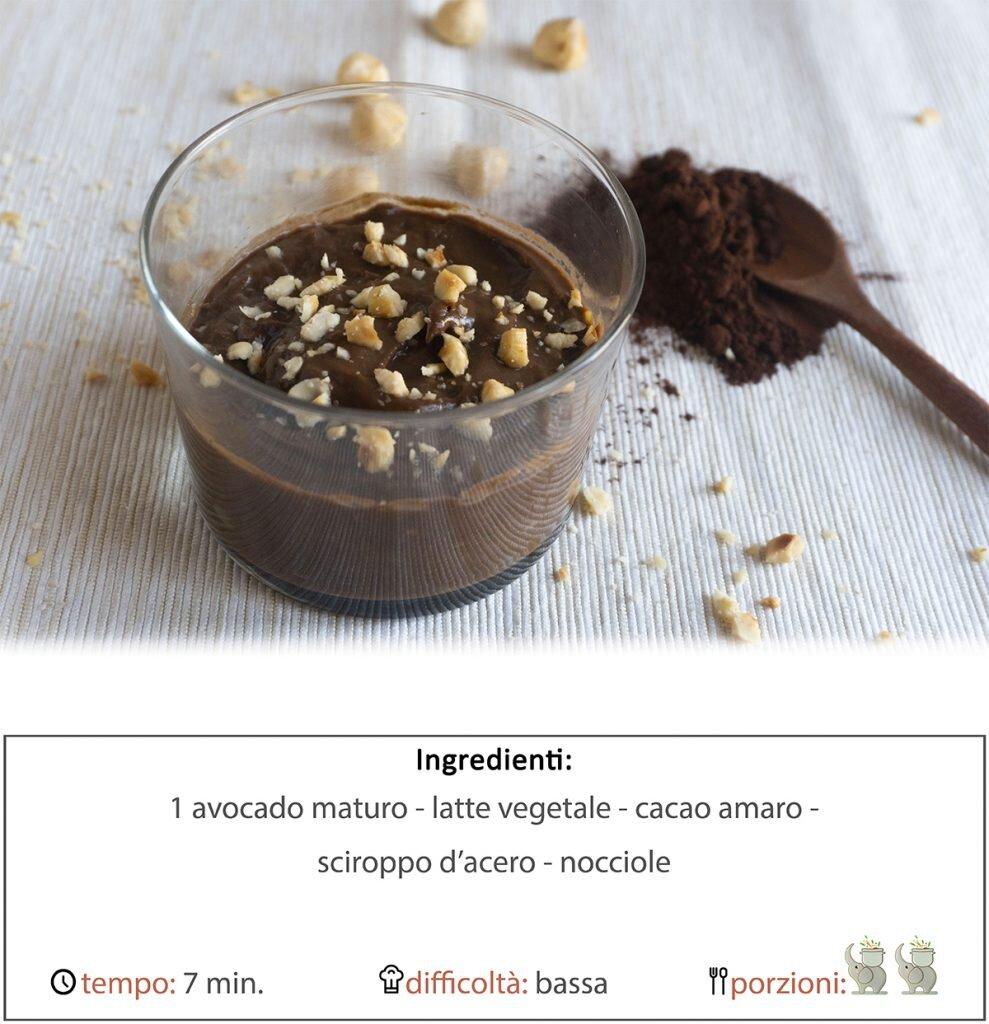 Mousse di avocado al cioccolato