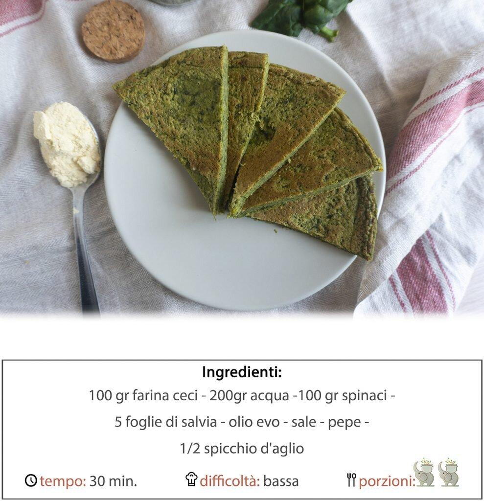Farifrittata spinaci e salvia