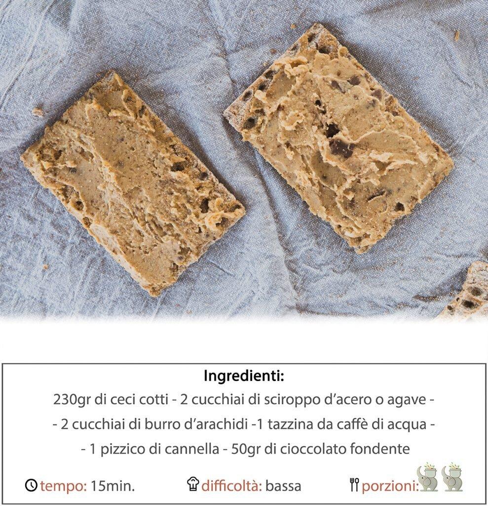 Hummus dolce al burro di arachidi