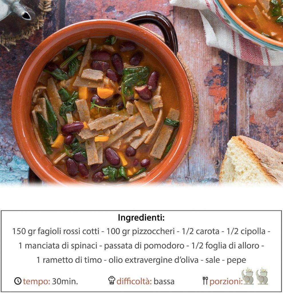 Zuppa di pizzoccheri e fagioli